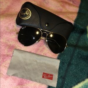 Ray ban large aviator polarized sunglasses
